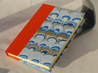 Carnet de note en toile orange