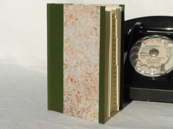 Small directory, binding cloth, khaki